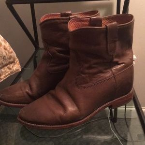 """Isabel Marant brown leather """"cluster"""" boot, 39"""